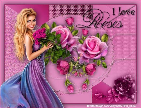 Cloclo i love roses