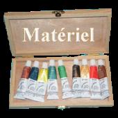 Coffret boite de peinture en bois 9 tubes acrylique lukas 904467122 ml